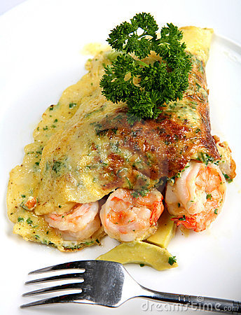 California prawn omlette