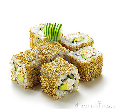 Free California Roll With Sesame Royalty Free Stock Photography - 11682997