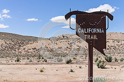 California Trail marker in Eastern Nevada