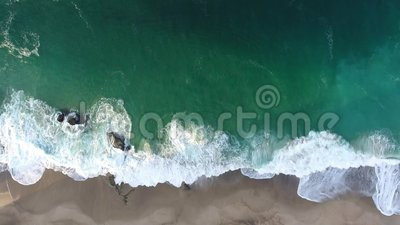 California, United States, Aerial view of beach houses along Pacific Coast in California. Real estate during sunset. California, United States. Aerial view of stock video footage