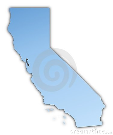 California(USA) map