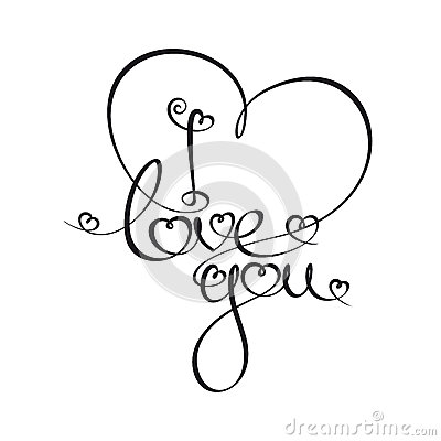 Caligraphic text i love you stock images image 37049664 for I love to design