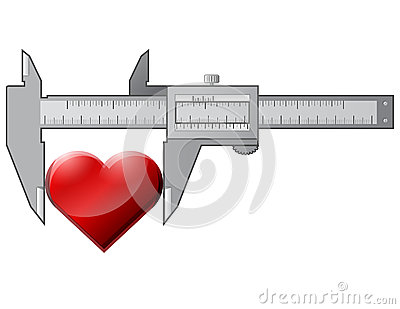Caliper measures heart