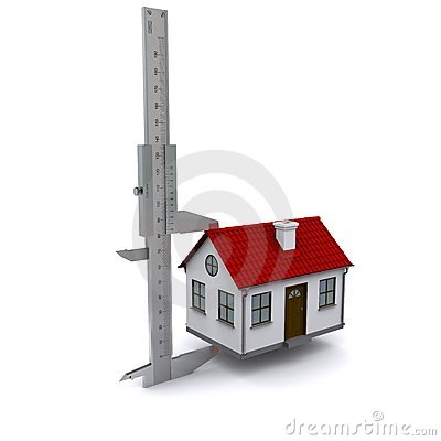 Caliper measures the height of the house