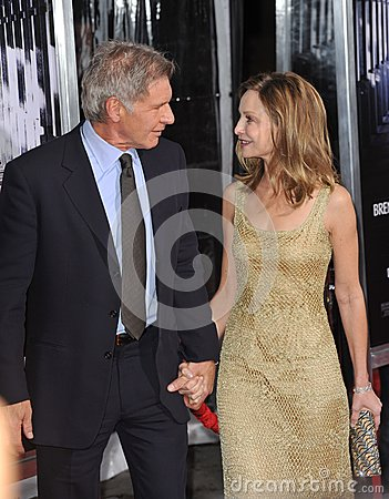 Calista Flockhart,Harrison Ford Editorial Photo