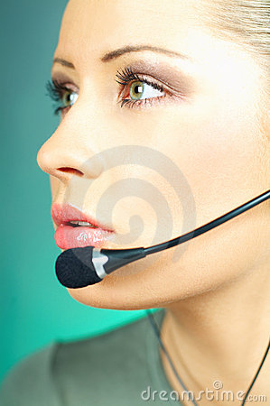 Free Call Center Agent Royalty Free Stock Photography - 590227