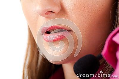 Call center female operator