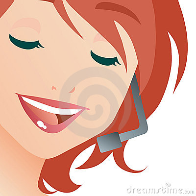 Free Call Center Lady Stock Photography - 4380892