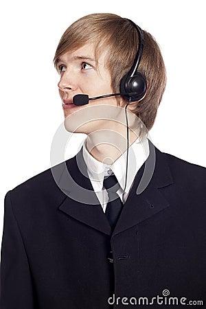 Call center male operator
