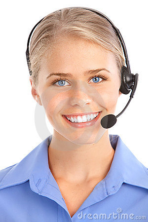 Free Call Center Operator Royalty Free Stock Photo - 15402875