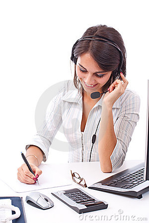 Free Call Center Operator Royalty Free Stock Images - 21924269