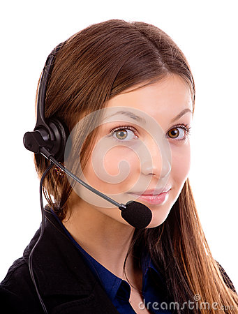 Free Call Center Operator Royalty Free Stock Image - 28394586