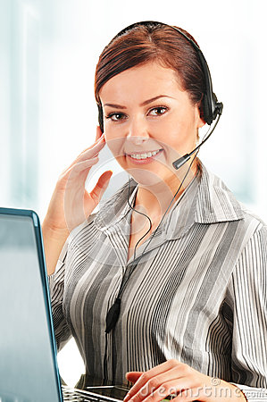 Call center operator. Customer support. Help desk