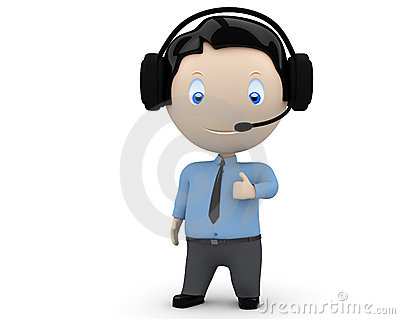 Call center operator likes you! Social 3D characte