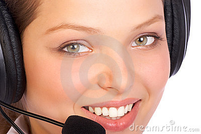 CALL CENTER OPERATOR SMILING
