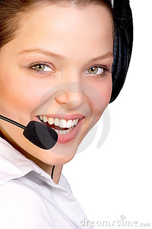 Free CALL CENTER OPERATOR SMILING Stock Image - 1027421