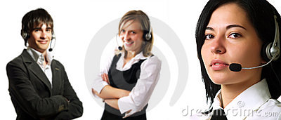 Call center operator team