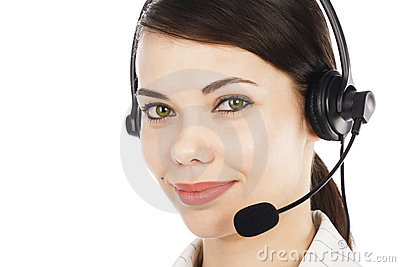 Call center operator woman