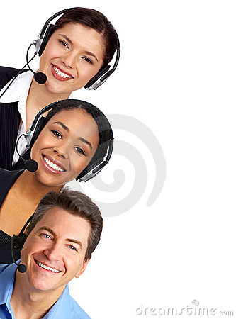 Free Call Center Operators Stock Image - 6546811