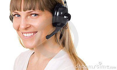 Call-center representative isolated