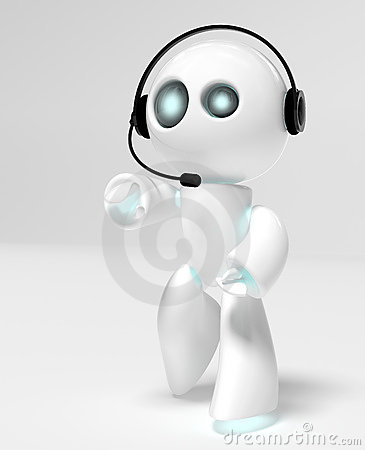 Call-center robot