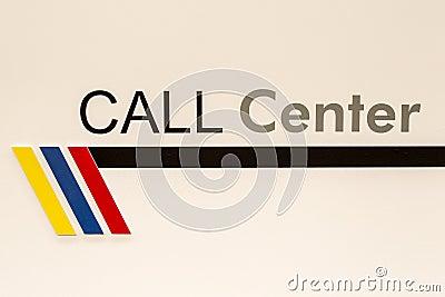 Call center sign