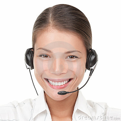 Call Center Woman with headset