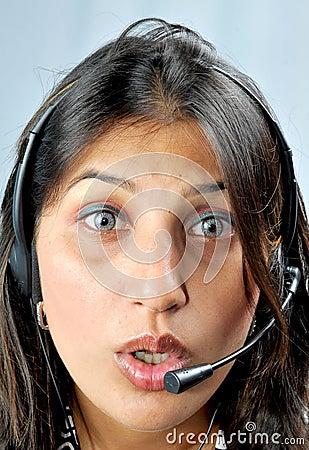 Call centre executive face shot