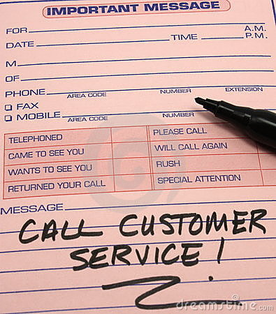 Call Customer Service Message