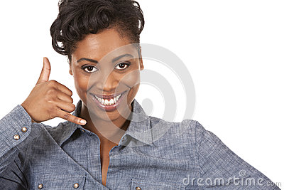 Call Me Gesture Royalty Free Stock Image - Image: 29531086