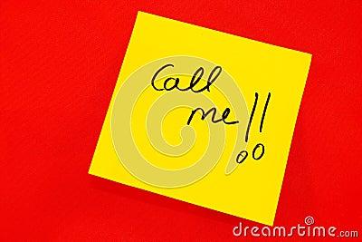 Call me note