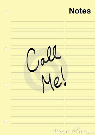Free Call Me! Note Stock Photos - 13252993