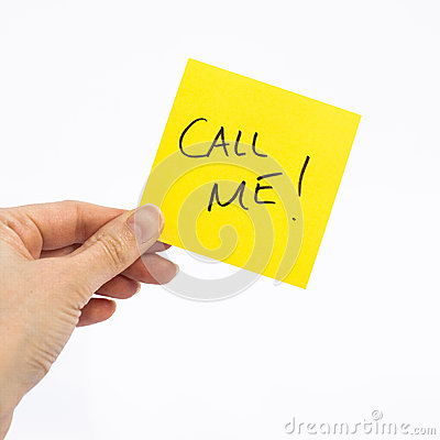 Free Call Me Note Royalty Free Stock Images - 44239499