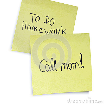 Call mom reminder.