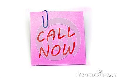 Call Now phrase