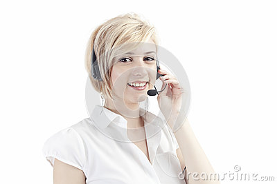 Call operator with headset