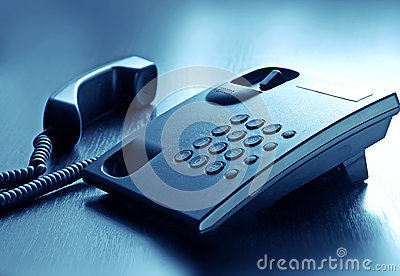Call phone with cord in office