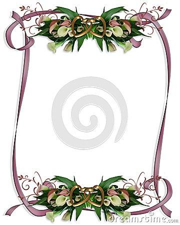 Free Calla Lilies Border Wedding Invitation Stock Photos - 8356743