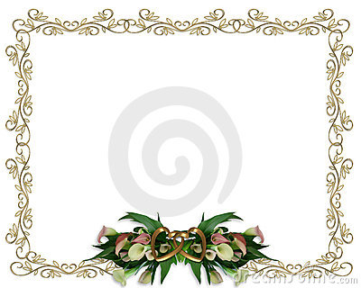 Calla Lilies floral Border Wedding invitation