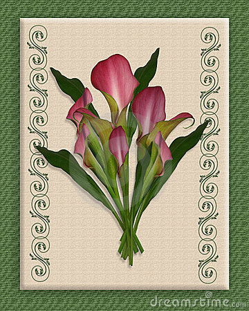 Calla Lily Bouquet on canvas