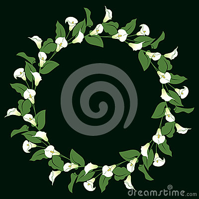 Free Calla Lily Wreath Stock Photography - 38822342