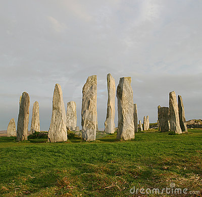 Free Callanish Standing Stone Circle Royalty Free Stock Image - 9756106
