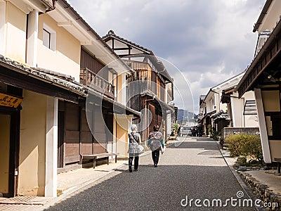 Calle con las casas japonesas tradicionales fotograf a - Casas japonesas tradicionales ...
