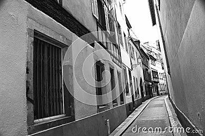 Calle estrecha de Estrasburgo