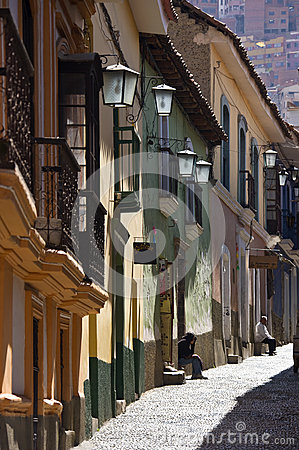 Calle Jaen - La Paz - Bolivia Editorial Photo