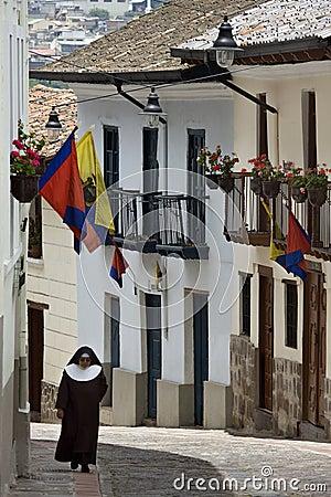 Calle Ronda - Quito - Ecuador Editorial Photography