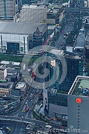Calles de Bangkok Foto de archivo editorial