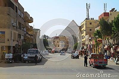Calles de El Cairo Foto editorial