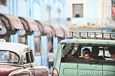 Calles de Havanna Foto de archivo editorial