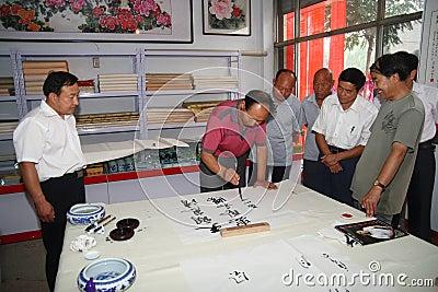Calligrapher to create Editorial Photo